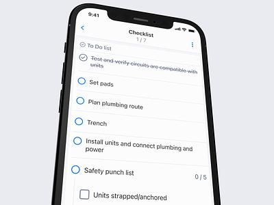 Simple checklist screen app ux clean interface ui design iphone ios radio button to do list today todo checklist form
