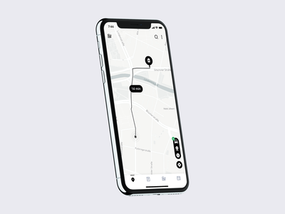 Route screen interaction app clean ux interface ui station charger electric car electric location destination route map
