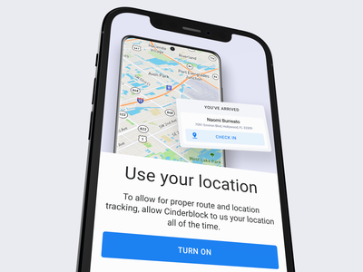 Onboarding screen ios app interface application flow registration interaction ux ui user experience user interface tracking map gps location onboarding