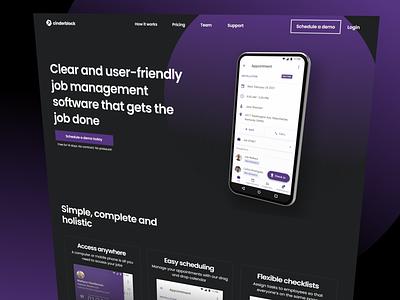 Home page redesign ux ui clean branding interface design landing light product design product page home website webdesign dark