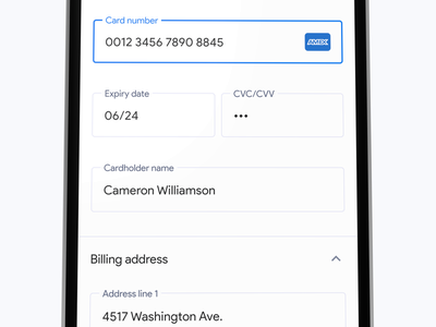 Add new card interface ui text field payment add card credit card form material android ios app ux