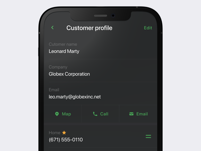 User profile dark dark ui product design mobile items list profile user app ux design iphone ios interface ui