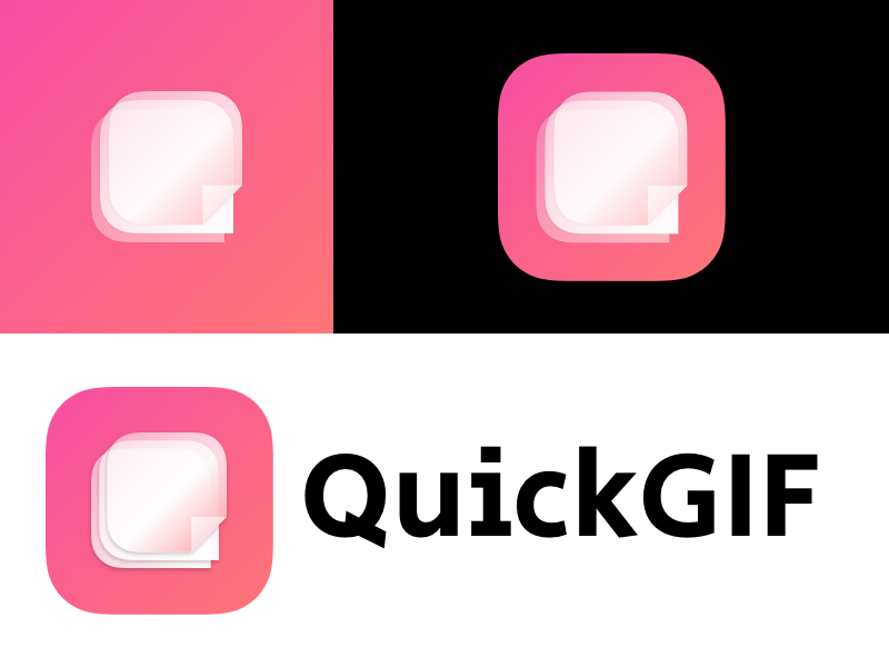QuickGIF Logo brand style app icon mobile ios design gradient color bright icon logo