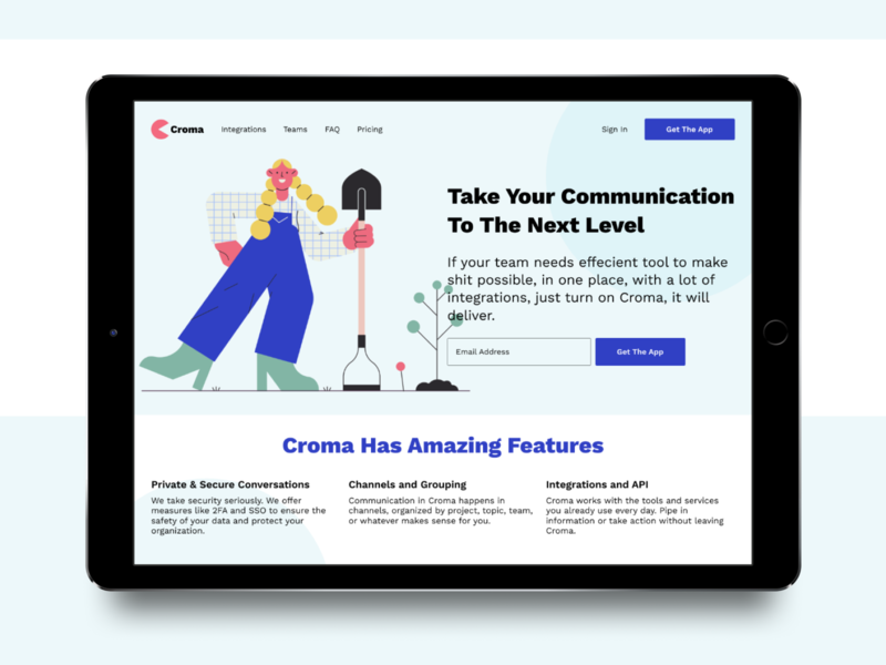 Croma Landing Page ui design charachter landing page interface illustration smooth