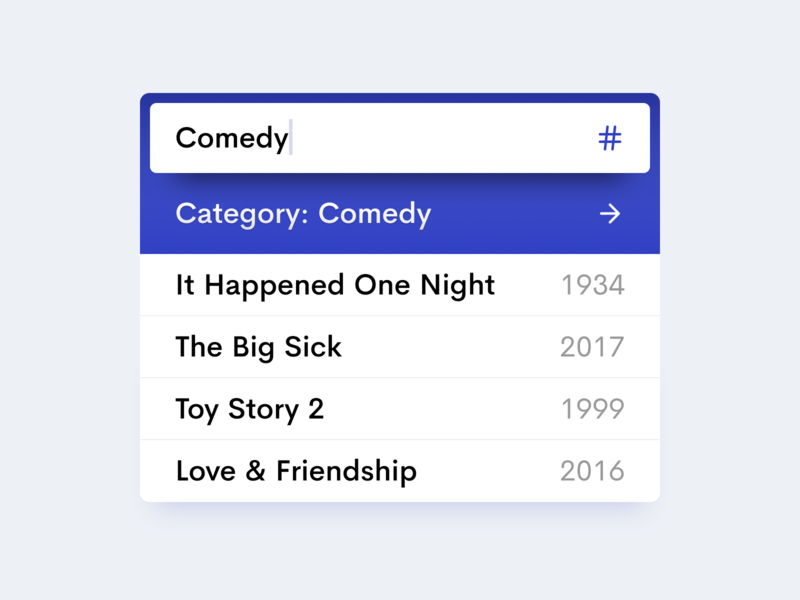 🔎 Search & Dropdown movies tag search input dropdown interface ui