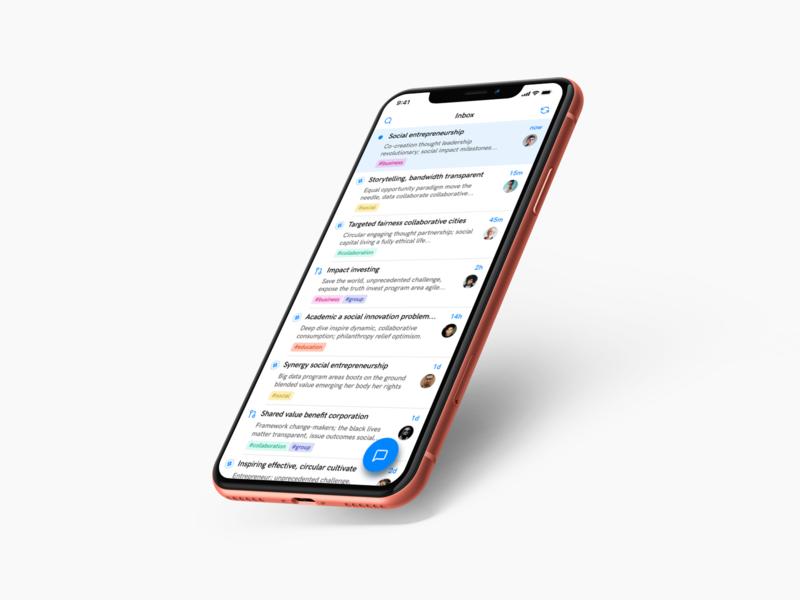 📥 Inbox mobile clean ux design communication chat inbox app interface ui
