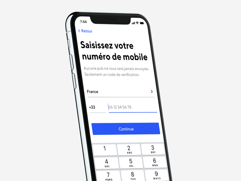 📱 Mobile Sign Up app mockup signup login form interaction design iphone ux ios interface ui