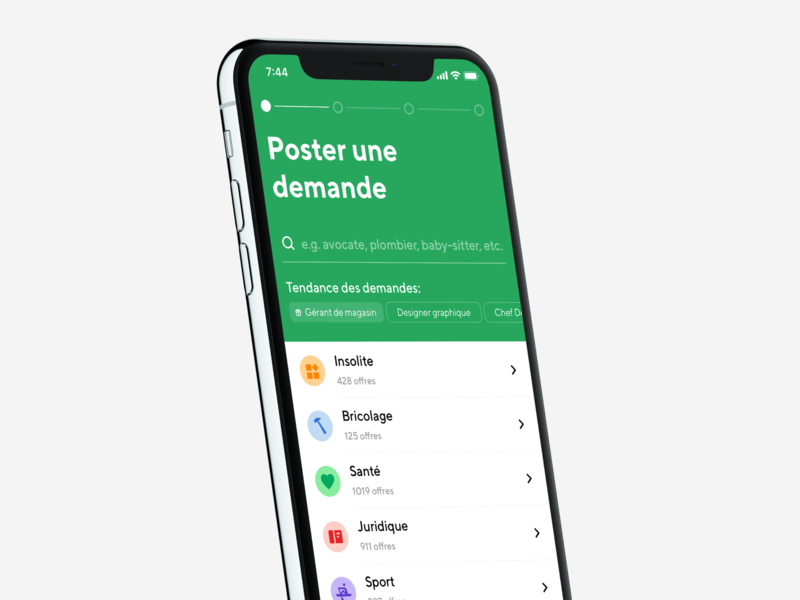 👀 Poster screen progress search form typography minimal color list mockup clean iphone app ux ios interface ui