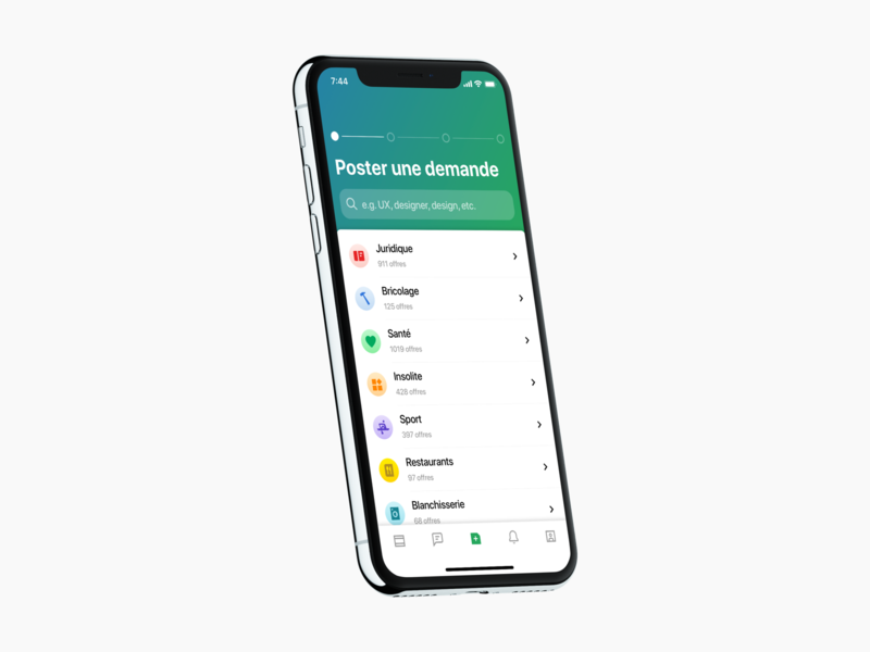 🦖 Poster Screen. Evolution. ui interface ios ux app iphone clean mockup list color minimal typography form search progress