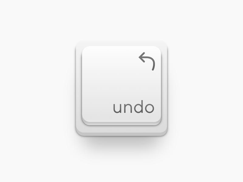 ⌨️ Undo Key app icon shadow illustration mac cmndz macos undo keyboard icon key ui