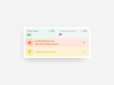 📊 Profile widget widget button icon iphone vector sketch interaction typography design ux app ios interface ui