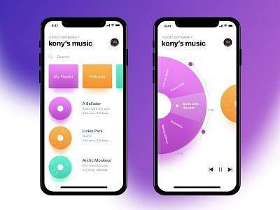 Music Player music music player ui ux design sketch