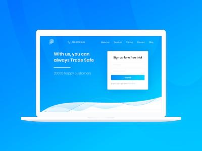 Financial service Website design fonts bold gradient services website signup login ui ux finance