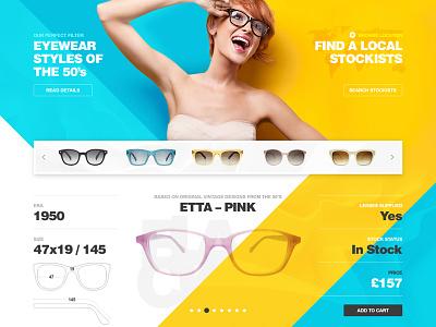 Black Eyewear shop eyeglasses sunglasses eyewear ui site concept design web