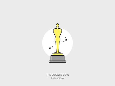 The Oscars 2016 vector illustration design icon cinema oscars