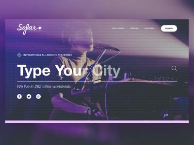 SoFar Homepage Redesign nav search search-bar navigation chicago landing page landing homepage website website design graphic design design