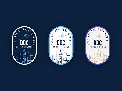 DDC - United Airlines Sticker Swag typogaphy vector travel airline sticker graphic design illustration design