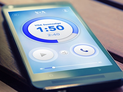 VOA Mobile Streamer news music ui android app ios app app