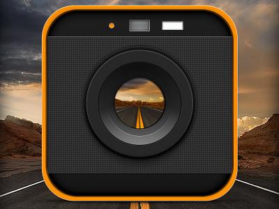 Focus on the Road visual design camera icon