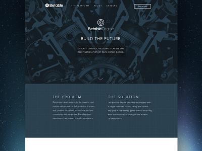 Betable Corp ux ui startup responsive website design