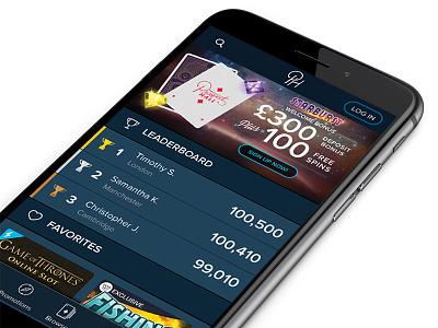 Prospect Hall leaderboard casino ui design responsive web mobile