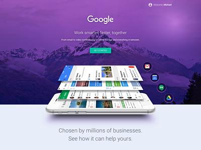 Google Features Page ui design web design