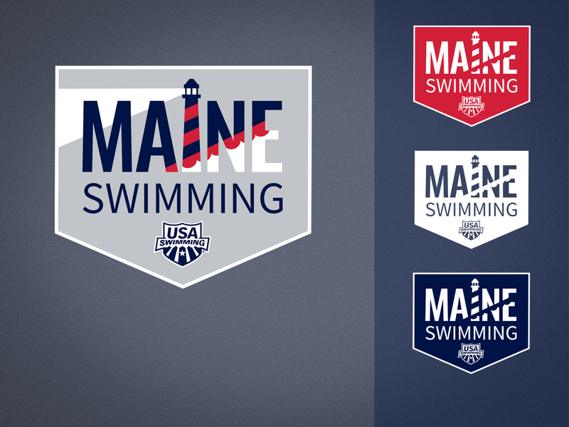 Maine Swimming swimming rebrand redesign sports olympics