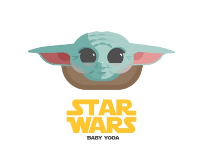 Baby Yoda mandalorian starwars yoda baby yoda vector illustration art design