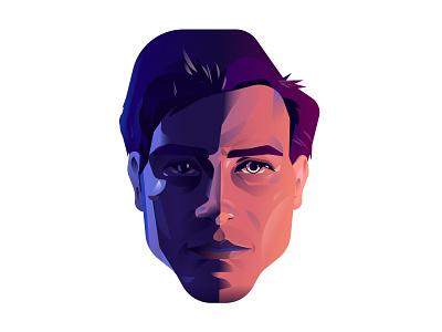Headshot portrait face vector illustration art design