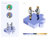Med vector illustration art design