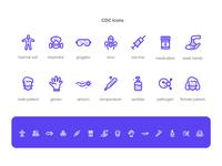 CDC Icons icon vector illustration art design