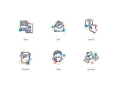 Schoolhouse Icons school set icons flat web website interface branding vector illustration art design
