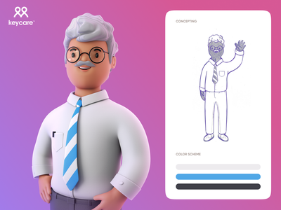 Luan Keycare doctor character 3d ux ui art illustration design