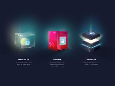 Loot Boxes branding design figma prize loot box graphic design 3d