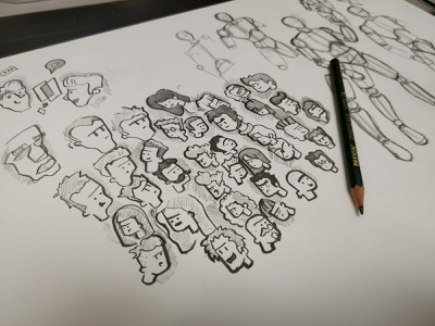 Doodling characters sketch art book art illustration charachters doodling drawing