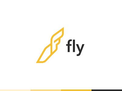 Fly hermes show flyer shoe art design icon branding vector logo