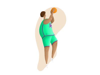 Shooting hoops shooting hoops basketball design art illustration