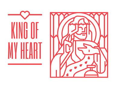 KOMH album kanyewest heart king branding vector design logo illustration