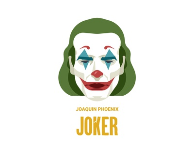 Joker vector design film illustration art joaquin phoenix movie joker joker movie