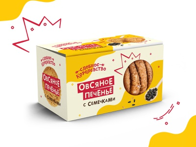 Packaging for oatmeal cookies food печенье упаковка cookie package design cyrillic