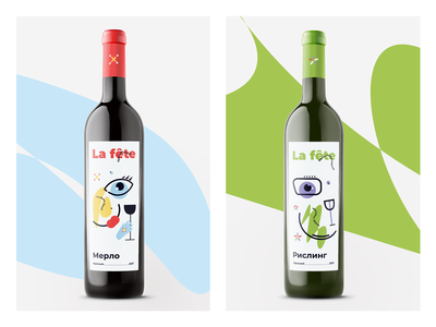 Label concept for wine