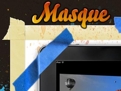 Masque iPad App Website fireworks ipad app website