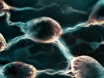 inHouse iPad App Detail photoshop painting neuron illustration