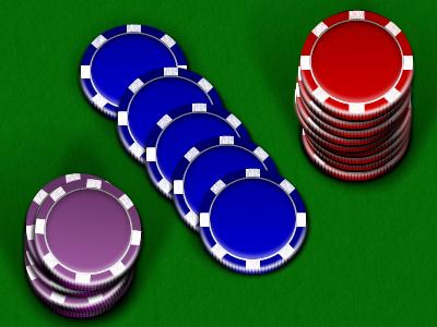 Poker Chips fireworks illustration poker paths