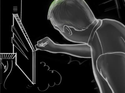 Designing a rocket illustration rocket chalk photoshop