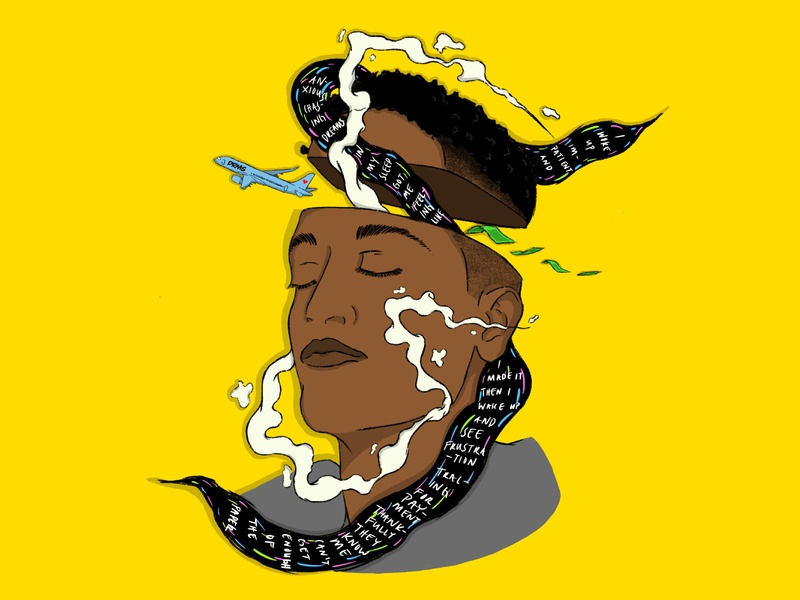SYD ILLUSTRATION artist lyrics smoke plane syd music the internet illustration design