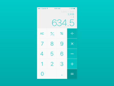 DailyUI - 004 - Calculator calculator dailyui