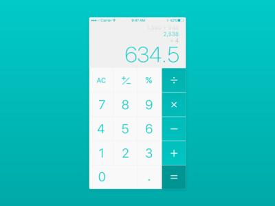 DailyUI - 004 - Calculator