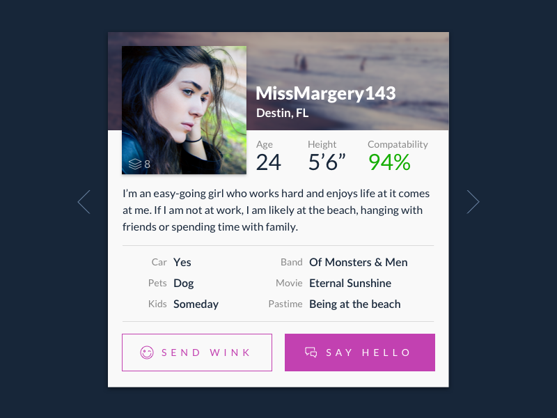 DailyUI - 006 - Profile user profile 006 dailyui