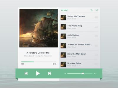 DailyUI - 009 - Music Player
